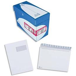Enveloppes 229x324 La Couronne - fenêtre 105x50 - auto-adhésives - vélin blanc - 100g - ouverture facile - boîte de 250 (photo)
