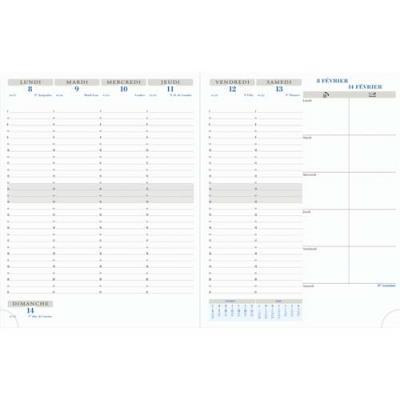 Agenda 2019 semainier Exacompta Horizon 27 - 27 x 21 cm - janvier à janvier - noir (photo)