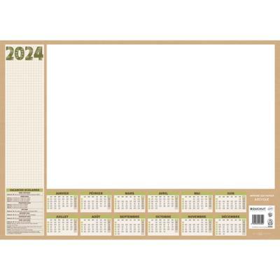 Sous-mains perpétuel en papier recyclé, grille perpétuelle, format 38,5 x 54 cm, 25 feuillets Natura CBG