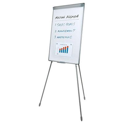 Chevalet de conférence - surface magnétique laquée effaçable à sec - 70 x 92 cm - blanc (photo)