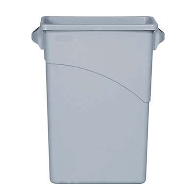 Collecteur Slim Jim gris clair 60 litres 279 x 587 x 632 mm (photo)