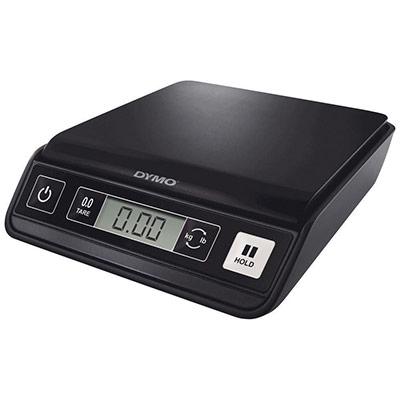 Pèse-lettres Dymo M1 - capacité 1 Kg - numérique USB - 3 piles AAA non fournies - L23,1 x H5,8 x P19,7 cm - noir (photo)