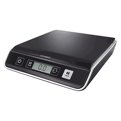 Pèse-paquets Dymo M5 - capacité 5Kg - numérique USB - 3 piles AAA non fournies - L21,1 x H4,5 x P23,4 cm - noir (photo)