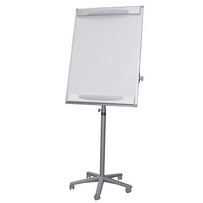 Chevalet mobile design Bi-Office - surface magnétique effaçable à sec - cadre gris - 700 x 1 000 mm (photo)
