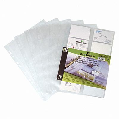 10 pochette cartes de visite pour reliure Visifix de Durable (photo)