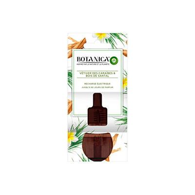 Recharge pour diffuseur électrique Botanica parfum Vétiver des Caraïbes et Bois de Santal - flacon 19ml