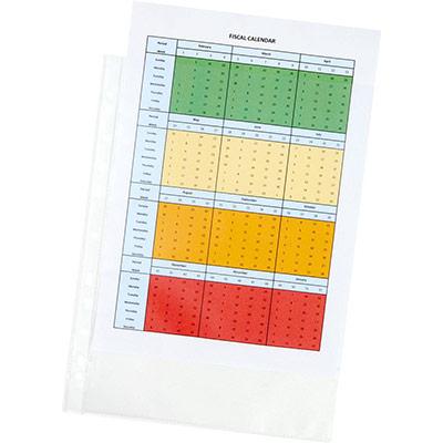 Pochettes perforées A4 polypropylène grainé 7/100 - boîte de 25 (photo)