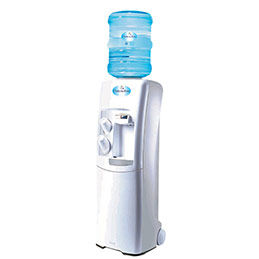 Fontaine à eau bonbonne - eau froide/eau tempérée - entretien sanitaire 1 an + garantie pièce 1 an (photo)