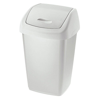 Couvercle basculant collecteur blanc 50 litres