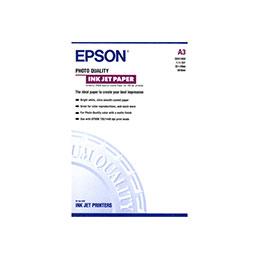 Epson Photo Quality Ink Jet Paper - mat - enduit - A3 (297 x 420 mm) - 102 g/m² - 100 feuille(s) papier - pour Expression Photo XP-970; SureColor P5000, SC-P5000, P7500, T3100, T3400, T5100, T5400 (photo)