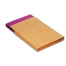 Boîte de 250 pochettes kraft La Couronne - adour auto-adhésives - 120 gr - 3 soufflets - format 280x365 26 (photo)