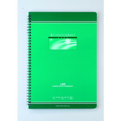 Cahier Conquérant 7 - 21 x 29,7cm - petits carreaux - 180 pages - 70 g