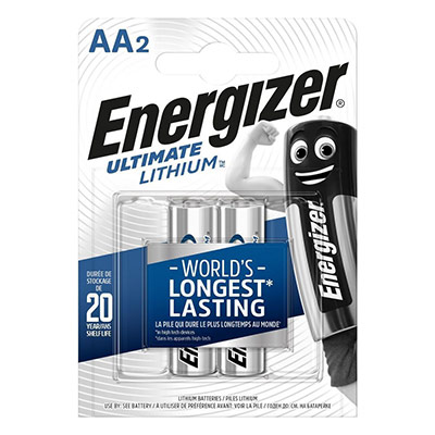 Pile AA / LR6 Energizer Ultimate Lithium - lot de 2