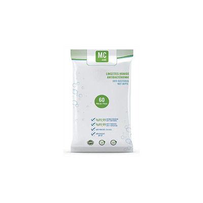 Lingettes antibactériennes et virucides EN 14476 - paquet de 60