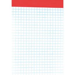 Bloc de bureau - sans couverture - 10,5x14,8 cm - 100 feuilles - 5x5 - 60 g (photo)