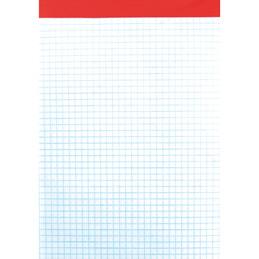 Bloc de bureau - sans couverture - 14,8x21 cm - 100 feuilles - 5x5 - 60 g (photo)