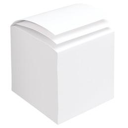 Bloc cube - 800 feuilles encollées - blanc - dimensions : 9 x 9 x 9 cm. (photo)