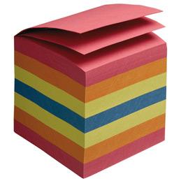 Bloc cube - 800 feuilles encollées - multicolores - dimensions : 9 x 9 x 9 cm. (photo)
