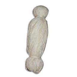 Bobine de 50g de raphia végétal Pw International - longueur non standardisée de 1 à 1,20m - blanc (photo)