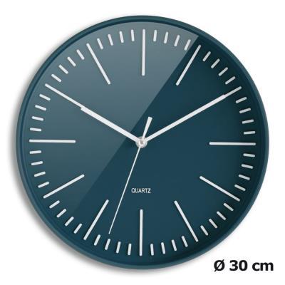 Horloge Tendancia à quartz - diamètre 30 cm - bleu nuit