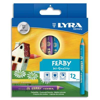 Etui de 12 crayons de couleur Ferby Lyra spécialement conçus pour les petits - coloris assortis (photo)