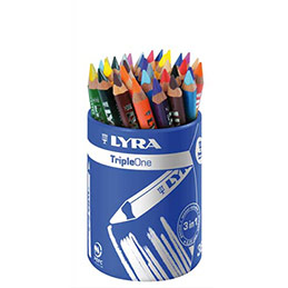 Pot de 36 crayons de couleur Lyra Triple One couleurs assorties (photo)