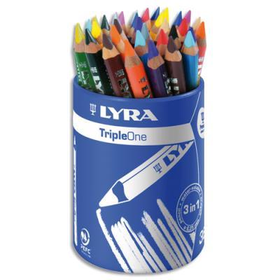 Pot de 36 crayons de couleur Lyra Triple One couleurs assorties
