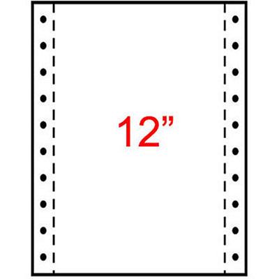 Papier listing Exacompta 240 x 305 mm - blanc - 1 pli 70g/m² - carton de 2000 feuilles