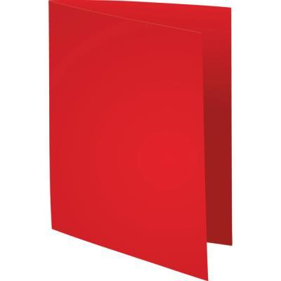 Chemises Exacompta Super carte 210g/m² - rouge - paquet 100 unités