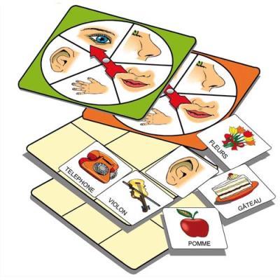 Atelier d'activité basé sur la connaissance des 5 sens, pour 1 à 5 joueurs de 3 à 7 ans (photo)