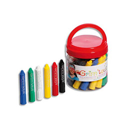 Seau de 34 stick de maquillage 6 couleurs assorties (photo)