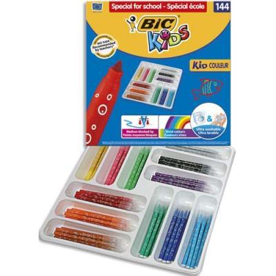 Classpack de feutres de coloriage pointe moyenne KIDCOULEUR BIC (photo)