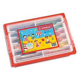 Classpack de 98 crayons de couleur Trio large Stabilo (photo)
