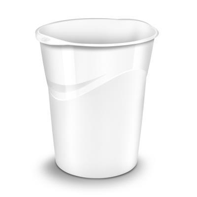 Corbeille à papier Cep Gloss 280 G - 14 litres - 305 x 290 x 334 mm - polypropylène - blanc (photo)