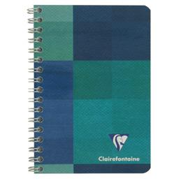 Carnet à reliure intégrale Clairefontaine - 9x14 cm - 100 pages - quadrillé 5x5 - 90g (photo)