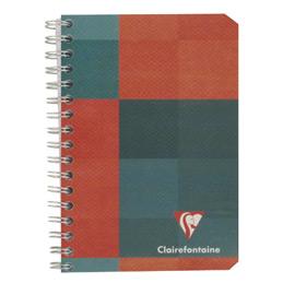 Carnet à reliure intégrale Clairefontaine - 9x14 cm - 180 pages - quadrillé 5x5 - 90g (photo)