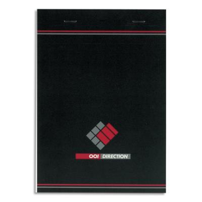 Bloc direction - 70 g - format 14,8x21 cm - règlure 5x5 - agrafé 37-12-06 (photo)