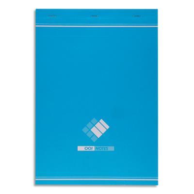 Bloc de bureau - 60 g - format 21 x29,7 cm - agrafé règlure 5x5 34-12-07 (photo)