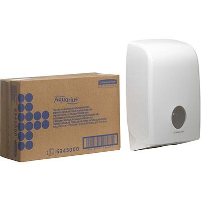Distributeur d'essuie-mains pliés Aquarius - 265 x 136 x 399 mm - blanc (photo)