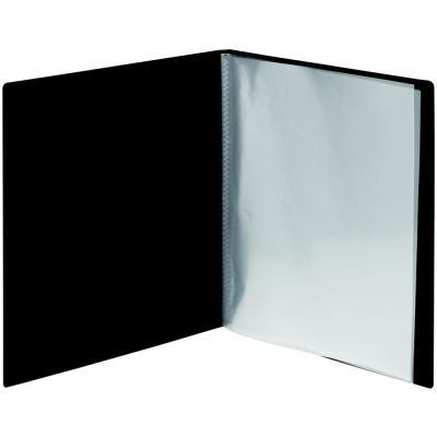 Porte-vue avec pochette de tranche - A4 - 100 pochettes - noir