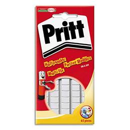 Pastilles adhésives blanches Multifix de Pritt - Pochette de 55