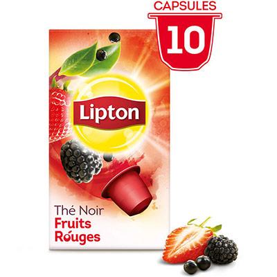 Thé noir fruits rouges - 10 capsules