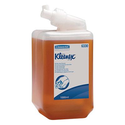 Cassette de savon Kleenex pour les mains Ultra 1 l couleur ambre (photo)