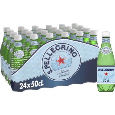 Bouteille d'eau minérale gazeuse San Pellegrino - bouteille 50 cl (photo)