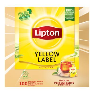 Thé Lipton Yellow en boite de 100 (photo)