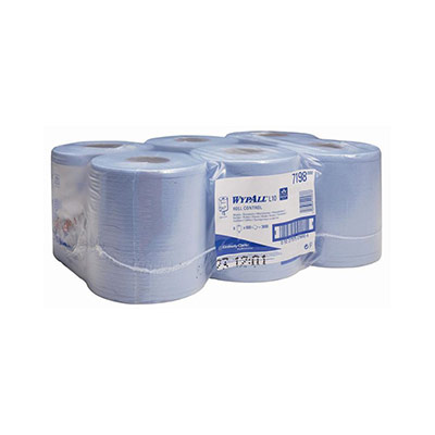 Papier d'essuyage L10 - simple épaisseur - 525 feuilles - 185 mm - bleu - carton 6 x 525 feuilles