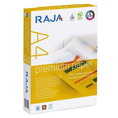 Papier extra-blanc Raja Paper - A4 - 80g - CIE 169 - Premium - ramette de 500 feuilles