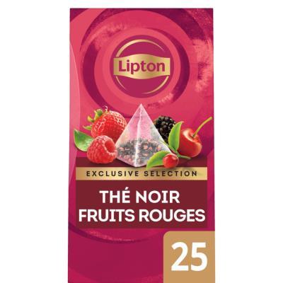 Thé noir fruits rouges Exclusive Sélection - 25 sachets pyramide
