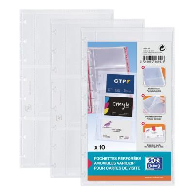 Pochettes supplémentaires pour porte-cartes de visite Proline - format 57 x 90 mm - paquet 10 unités
