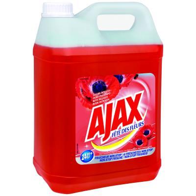 Nettoyant multi-usages Ajax Fête des fleurs - parfum fleurs rouge - bidon de 5 litres (photo)
